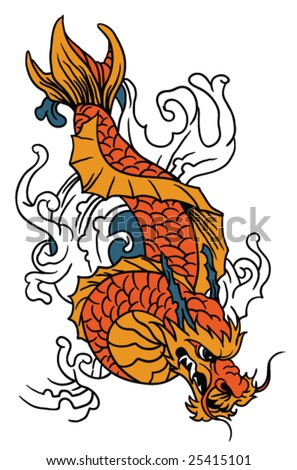 stock vector japanese art vector koi fish hand drawn