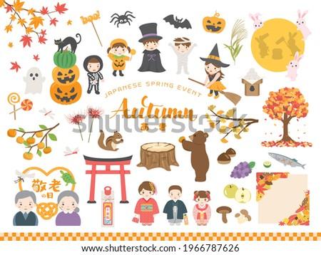 japanese autumn event vector