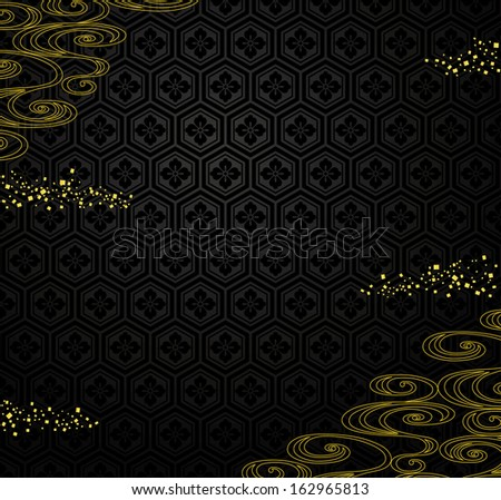 japanese black background with