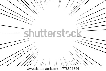 Japanese cartoon material: Concentrated line Normal density type Vertical elliptical space Photo stock ©