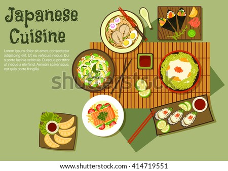 japanese cuisine icon with