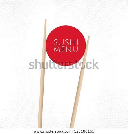 Japanese cuisine restaurant sushi menu cover template