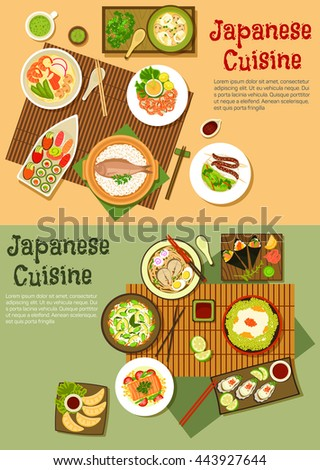 japanese cuisine with sushi