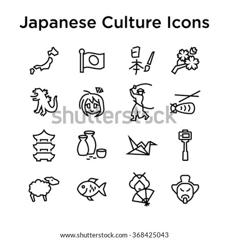 japanese culture icons  culture