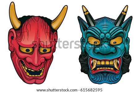 japanese demon masks ストックフォト ©