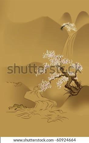 japanese design   lonely sakura