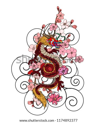 japanese dragon tattoo with