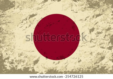 Japanese flag Grunge background. Vector illustration Eps 8.