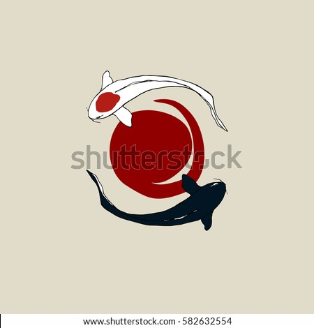 japanese flag sun carps koi