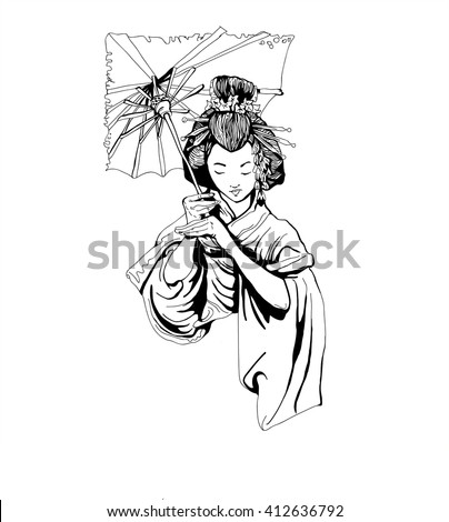japanese geisha girl woman