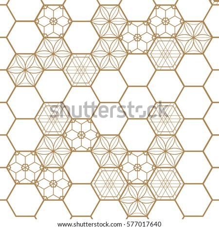 stock-vector-japanese-gold-background-and-pattern-geometric-elements-floral-background