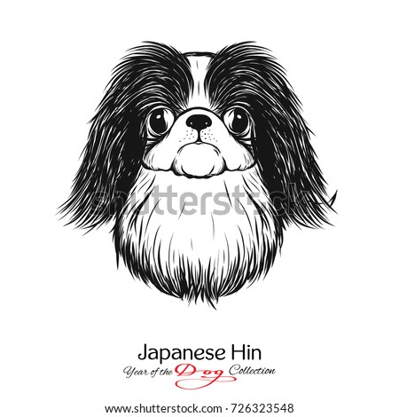 japanese hin black and white