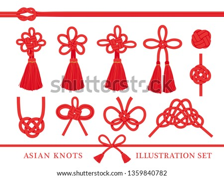 japanese knot vector