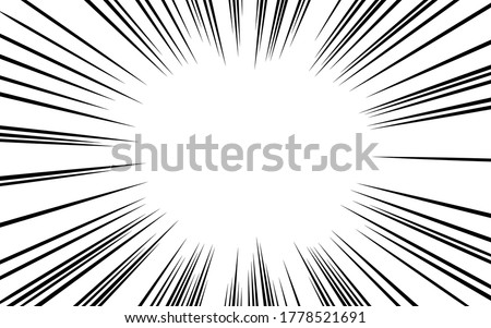 Japanese manga material: Concentrated line, light density and dark line type, full screen space Photo stock ©