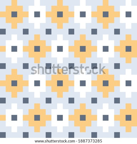 Japanese motif cute baby pattern traditional Japan geometric ornament. Minimalist background simple geo all over print block for kids fashion textile, towel, shirt fabric, interior wallpaper, cards. Zdjęcia stock ©