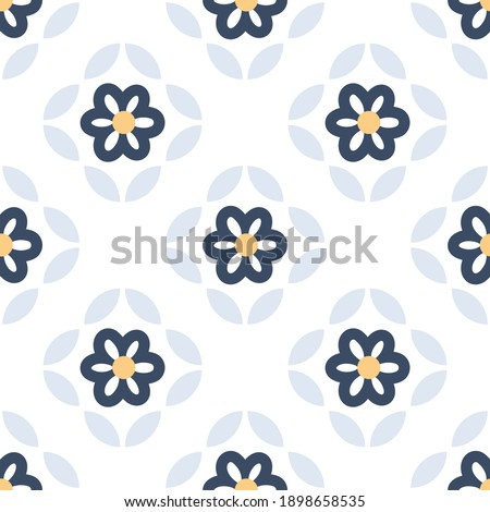 Japanese motif cute baby pattern traditional Japan geometric ornament. Minimalist background simple geo all over print block for kids fashion textile, towel, shirt fabric, interior wallpaper, cards. Stockfoto ©