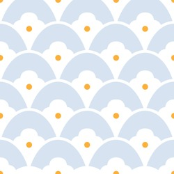 Japanese motif cute baby pattern traditional Japan geometric ornament. Minimalist calm background simple geo all over print block for kid fashion textile, towel, shirt fabric, interior wallpaper, card
