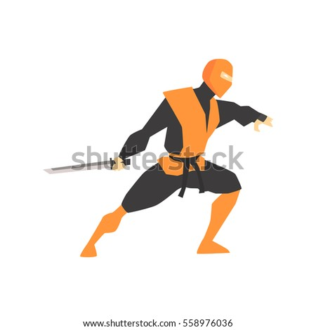 japanese ninja with katana