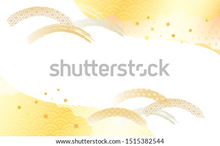 japanese pattern background material for Japanese plum