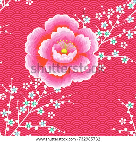 japanese pattern cherry