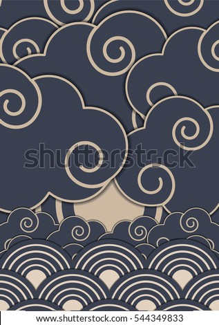 japanese pattern design vector
