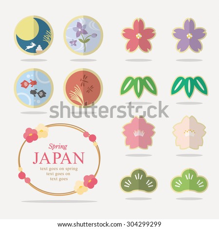 japanese pattern vector set