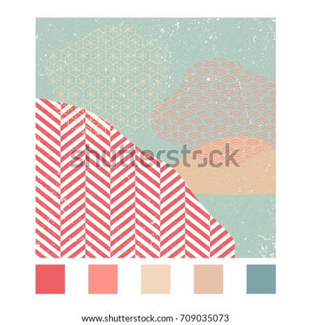 japanese pattern vector with