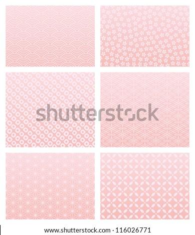 Japanese pink pattern