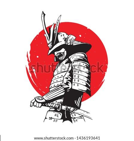 japanese samurai soldier on