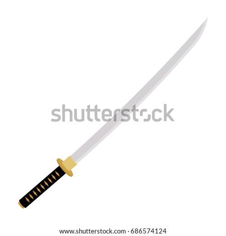 japanese samurai sword icon