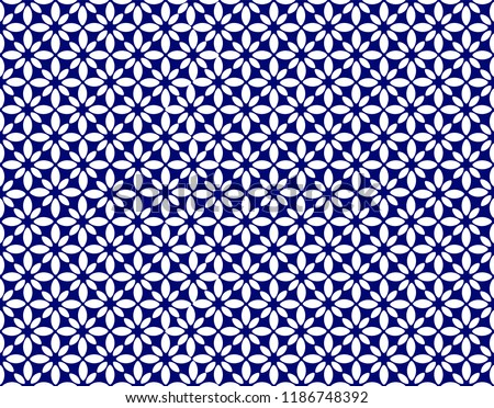 Japanese seamless pattern.Japanese TENUGUI. Vector. Pattern of rice