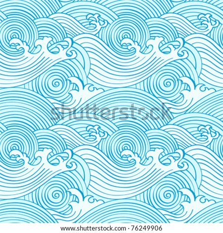 japanese seamless waves pattern