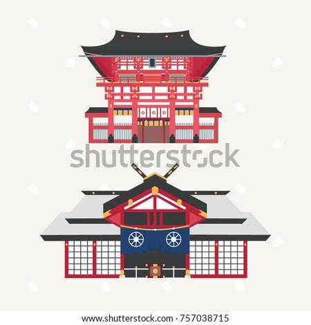 japanese shrine or temple
