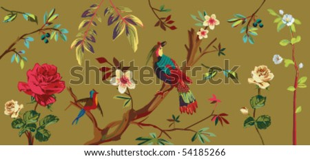 japanese style nature - stock vector