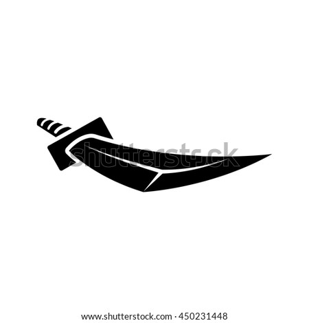 japanese sword illustration in