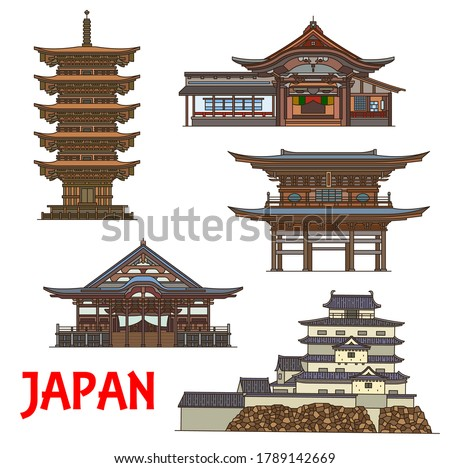 japanese temples and castle