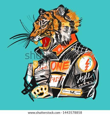 japanese tiger design wild