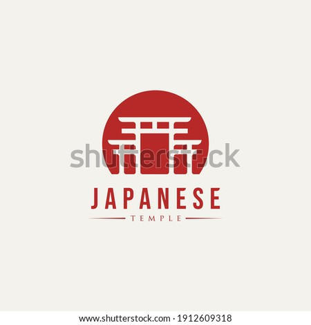 japanese torri gate temple logo