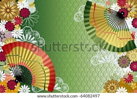 Japanese traditional pattern. Illustration vector.