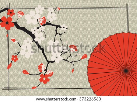 japanese umbrella and japanese