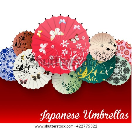 japanese umbrellavector