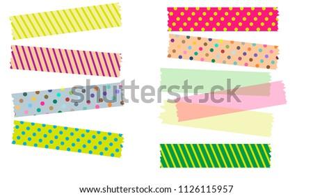 Japanese Washi Tape in Illustrator