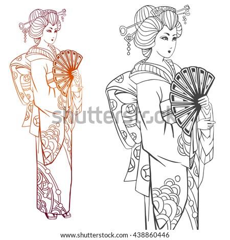 japanese women in kimono adult
