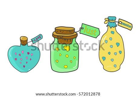 jar  bottle of poison  love