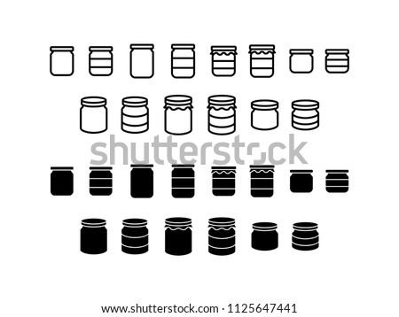 Jar Icon Design Vector Symbol Set