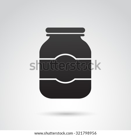 jar icon isolated on white