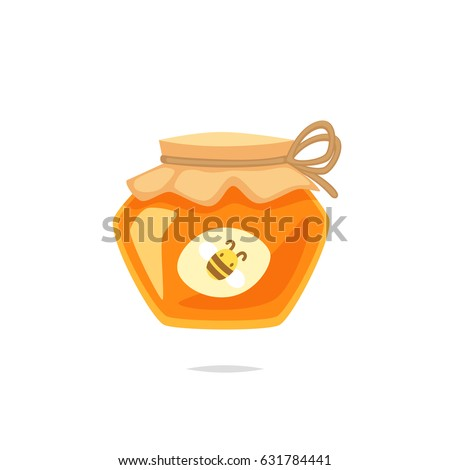 Jar of honey vector illustration
