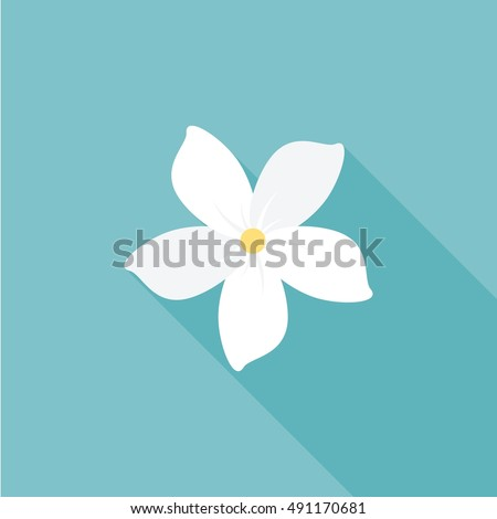 jasmine flower icon with long