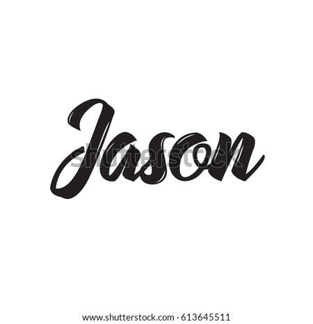 jason  text design vector