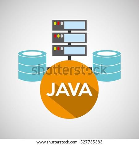 java language data base storage vector illustration eps 10